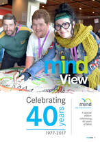 <image shows Mind Australia 40 year newsletter front cover>