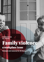 <image is front page of Caraniche at Work white paper on family violence>